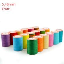 Cordon de couture en polyester 170m   Fil ciré rond, bricolage, lanière de ficelle, collier de corde, perle, couture artisanat pour couture de cuir 0.45