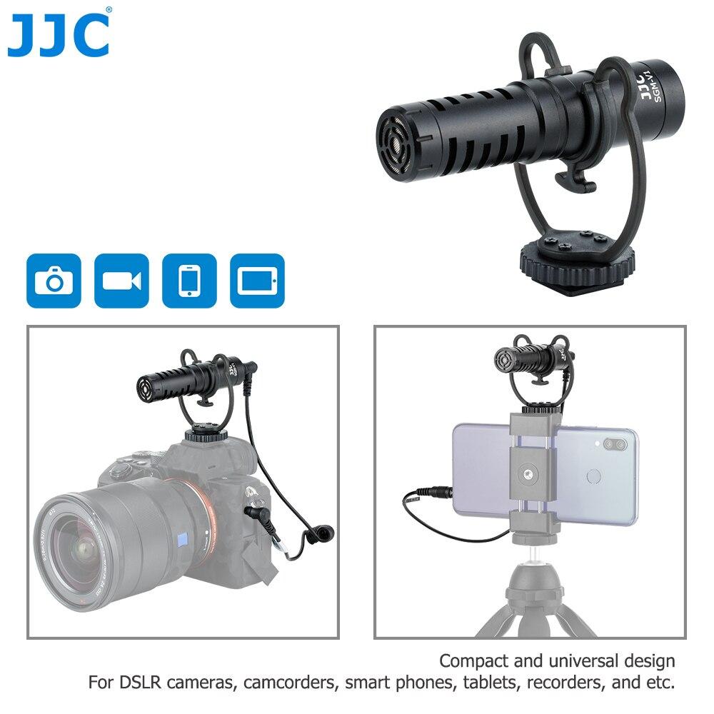 JJC-ميكروفون قلبي الشكل لكاميرا DSLR ، بدون مرآة ، وكاميرات الفيديو ، والهواتف ، والأجهزة اللوحية ، والمسجلات ، والمشاركات