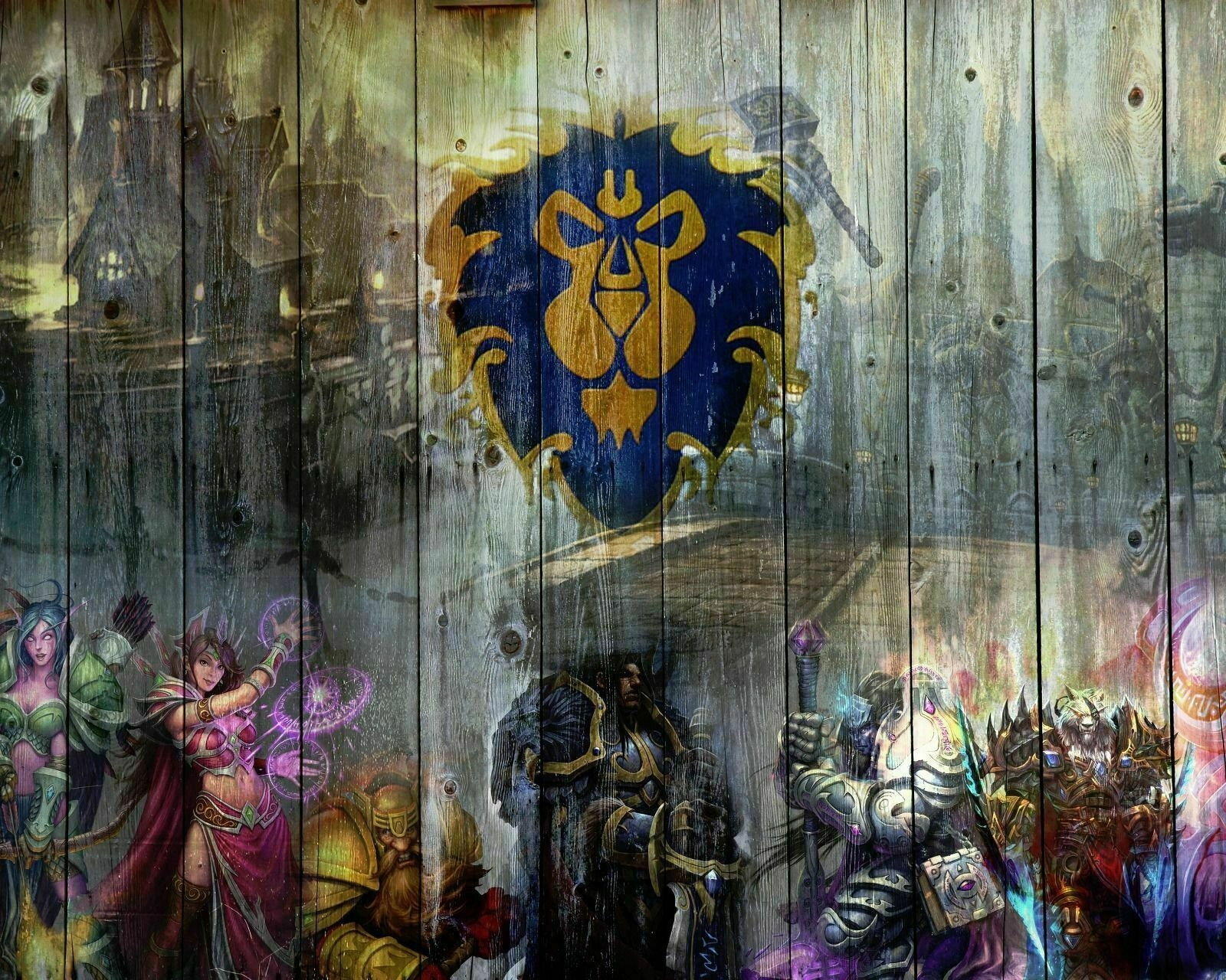 World of Warcraft Wow Alliance Art Film Print Silk Poster Home Wall Decor 24x36inch