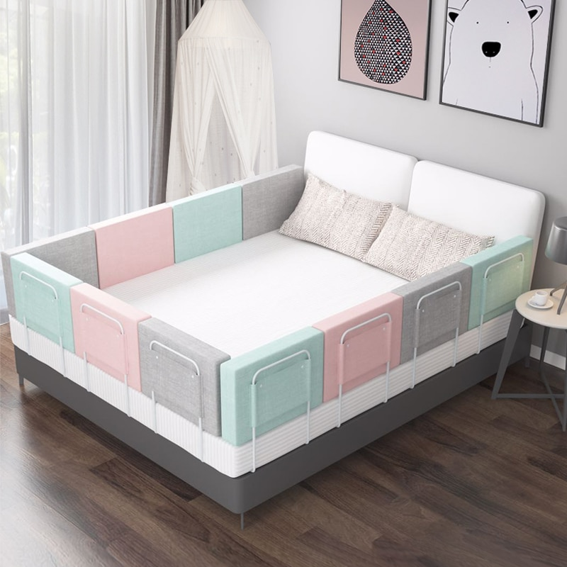 Newborn Baby Bed Fence Adjustable Bed Barrier Fence Safety Guardrail Home Playpen on Bed Crib Rails 0-6 Years Toddlers Bed Rail