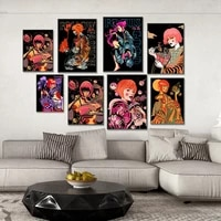 japanese style hipster pop art wall art canvas poster printing office painting home living room decoration painting poster