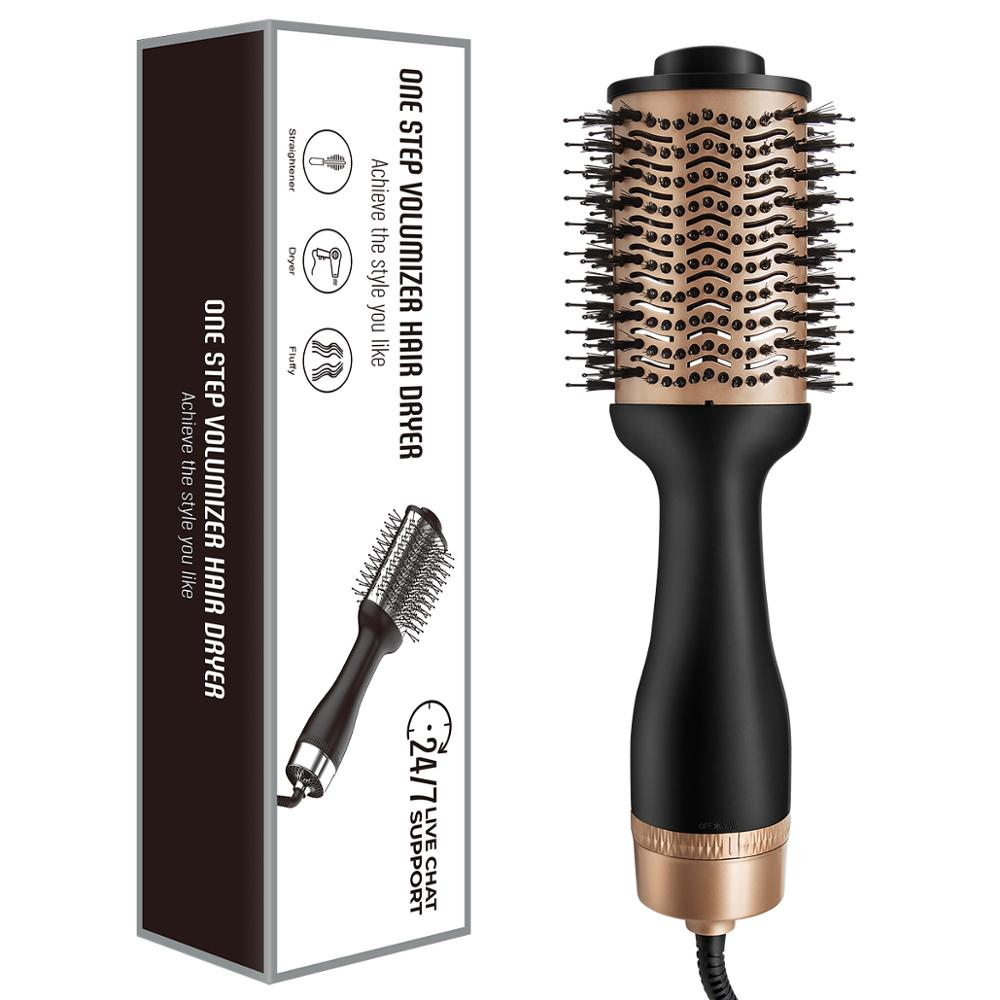 Professional One Step Hair Dryer and Volumizer Blow Hairdryer With Hair Styler Straightener Curling Iron Comb Brush enlarge