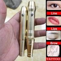 mini powerful full throw tattoo permanent makeup pen machine eyebrow make uplip swiss rotary tattoo machine pen gun