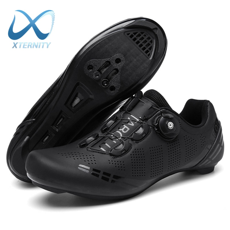 Hot Sale Professional Cycling Shoes MTB Flat Bike Shoes Lightweight Self-Locking Racing Bicycle Sneakers Cleat Sports Shoes Men
