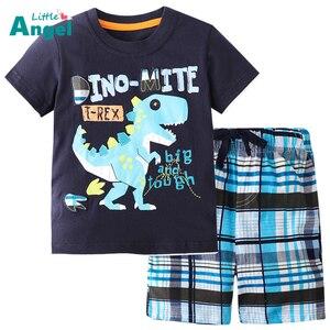 Hot Sale Brand Boys Clothing Children Summer Boys Clothes Cartoon Kids Boy Clothing Set T-shit+Pants Cotton