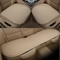 flax car seat cover front rear linen fabric cushion breathable protector mat pad universal auto interior styling truck suv van