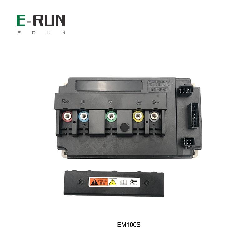 وحدة تحكم المحرك 72V 130A ، BLDC PMSM EM100S ، وحدة التحكم في المحرك مع قفل التدفق 250% ، وظيفة لـ QS Mid Drive ، 2KW