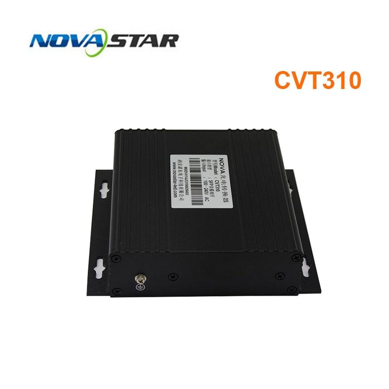 Novastar-محول الألياف الضوئية CVT310 ، جهاز إرسال واستقبال متعدد الأوضاع مزدوج الوضع ، LED