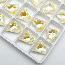 K9 Wit Pointback Hart Glas Kristal Gue Op Steentjes Voor Diy Kleding Tas Schoenen Accessoire 12x1 3Mm/12 stuks