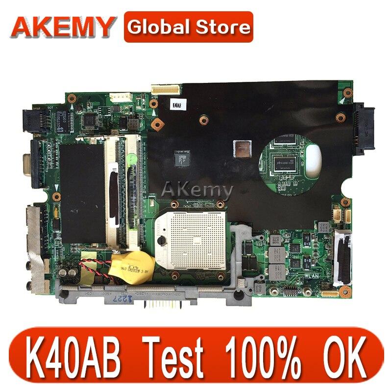 AK K40AB placa base de Computadora Portátil para ASUS K40AB K40AD K40AF K50AB K50AD K50AF K40IJ K50IJ K40 K50 prueba placa base original de