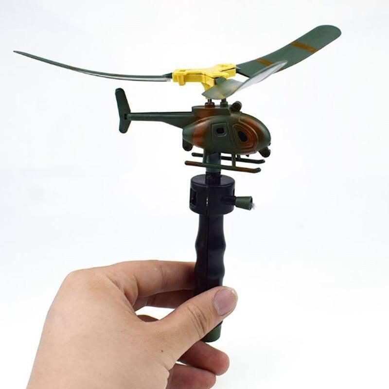 Crianças presentes brinquedos educativos helicópteros voar cordão para jogos engraçados ao ar livre crianças puxar fios helicópteros voar liberdade