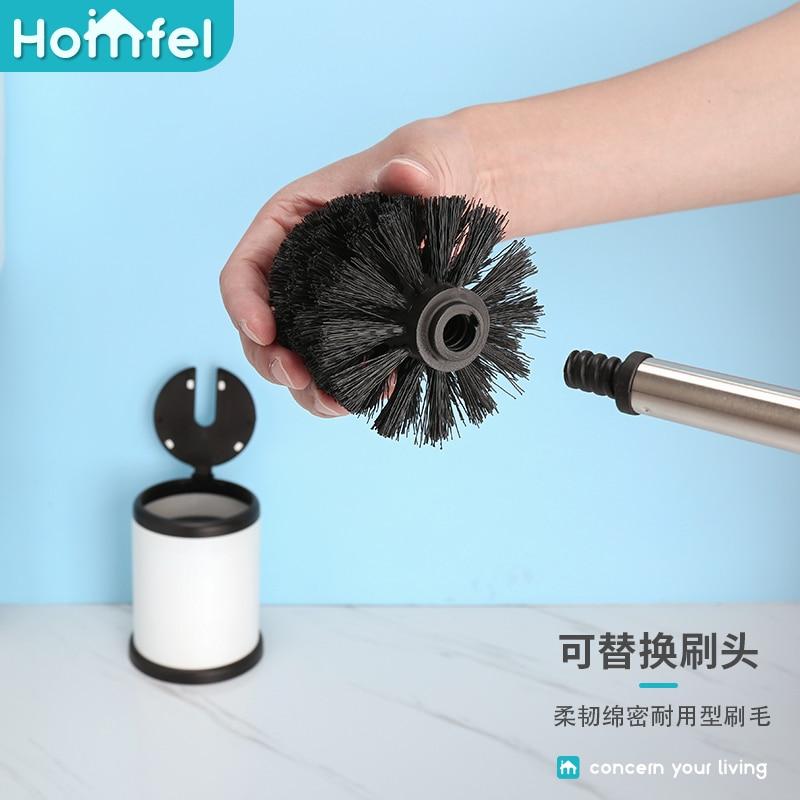 Sturdy Creative Toilet Brush Stainless Steel Durable Long Handle Toilet Brush Set Useful Brosse Wc Bathroom Products DK50TB enlarge