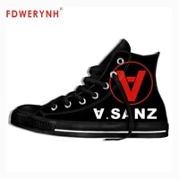 mens canvas casual shoes alejandro sanz band all nite party official band customize pattern color lace up leisure flats shoe