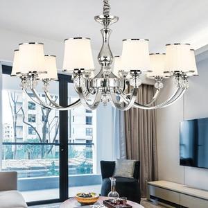 Modern Chrome Led Chandeliers Lighting Living Room Decor Led Pendant Chandeliers Lamp Indoor Hanging Lights Fixtures Luminaire