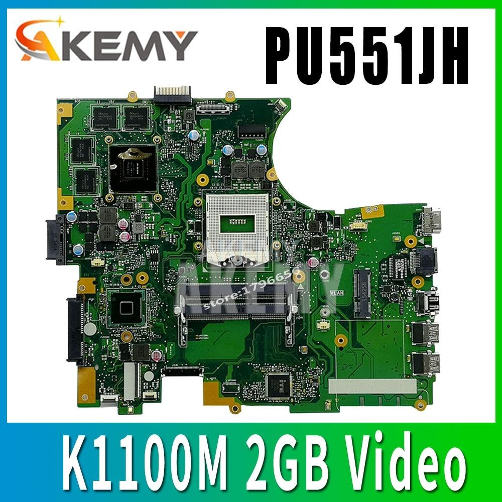 Placa base PU551JH para ordenador portátil ASUS PU551JH PU551J PU551 placa base original de prueba N15P-Q1 Quadro K1100M 2GB tarjeta de Video