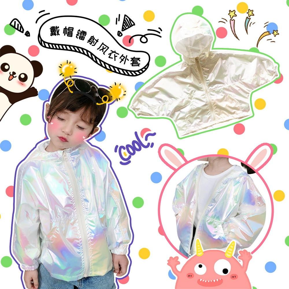 Tonytaobaby ropa de protección solar para niños impermeable de manga larga con capucha abrigo de niño niña