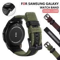 Ремешок нейлоновый для Samsung Galaxy watch 3 46 мм Active 2 Gear S3, сменный Браслет для Amazfit HUAWEI Watch GT2, 20 мм 22 мм