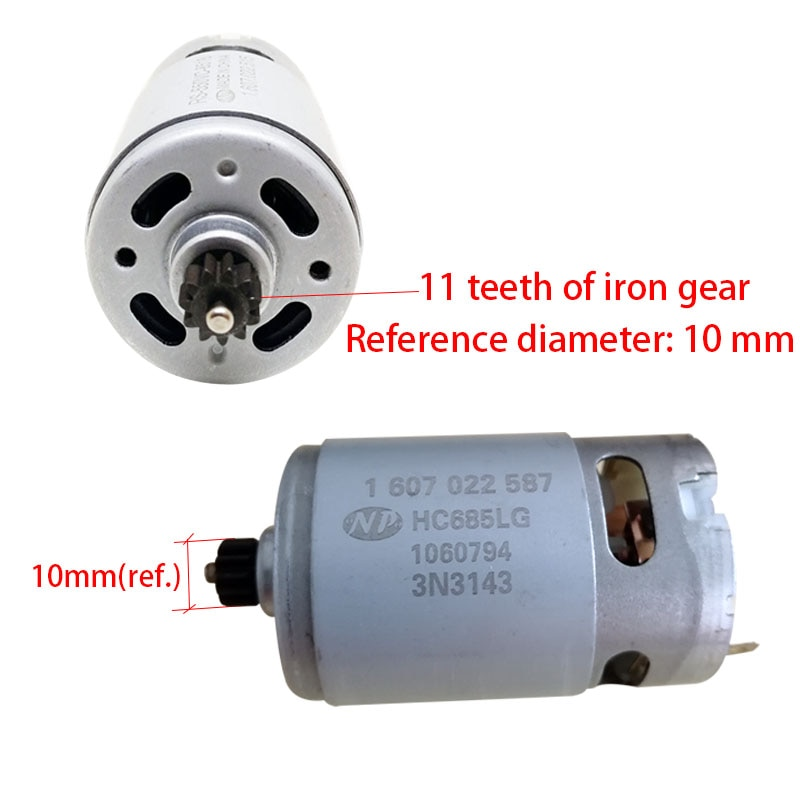 18 v 11 dentes motorhc685lg onpo motor 1607022587 é usado para a manutenção de gsr18-2-li bosch 3601ja4300 broca   peças de chave de fenda
