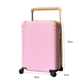 2021newLuggage celebrity type men's and women's pull rod box20 inches password leather suitcase strongWater corrugated suitcase