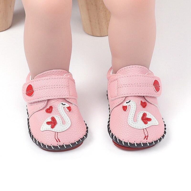 Нескользящие кроссовки для младенцев, из пу кожи, на мягкой подошве