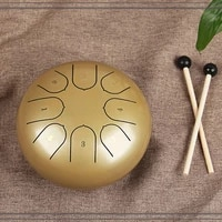 new steel tongue drum 6 inch 8 tune drum handheld tank drum percussion instrument yoga meditation instruments with drumsticks