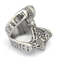 new trendy viking tomahawk letter ring mens ring metal letter mysterious rune pattern ring accessories party jewelry