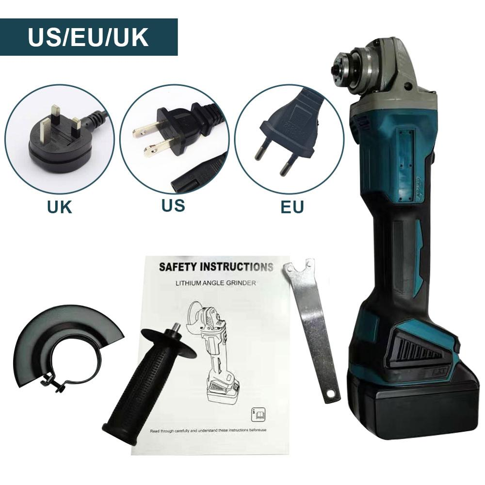 Brushless Cordless Angle Grinder Lithium-Ion Battery Brushless Cut off Tool Include Handle, Dust Shield, Wrench, Charger