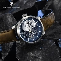 pagani design skeleton mens watches top brand luxury mechanical automatic watch for men 100m waterproof business montre homme