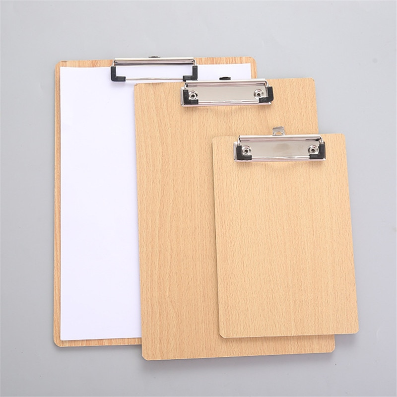 Деревянные A4 папка для документов досок толщиной файл рукописного ввода планшет с зажимом и папкой для файлов файл Органайзер Бизнес папка ...