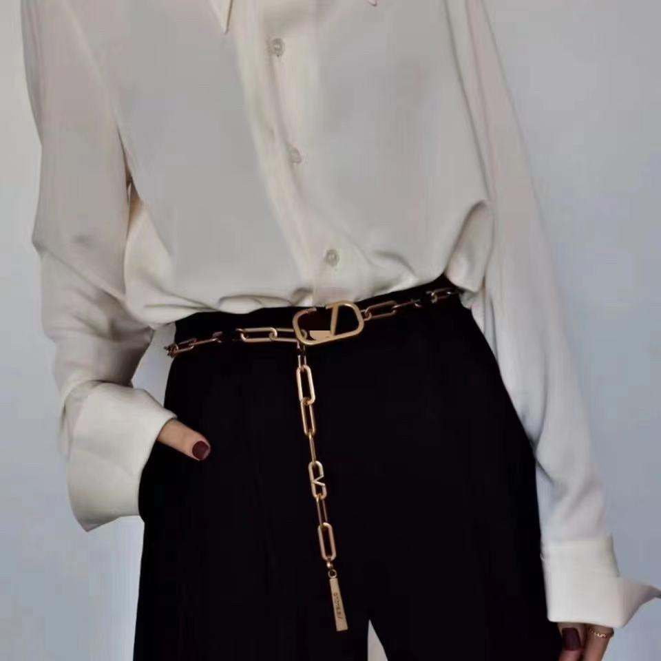 Официальный сайт, оптовая продажа цепочек с пятнами, новый ремень с надписью, яркий, женская модная индивидуальная поясная цепочка