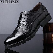 Chaussures crocodile hommes chaussures formelles en cuir véritable chaussures dentreprise pour hommes mode zapatos oxford hombre erkek ayakkabi sapatos