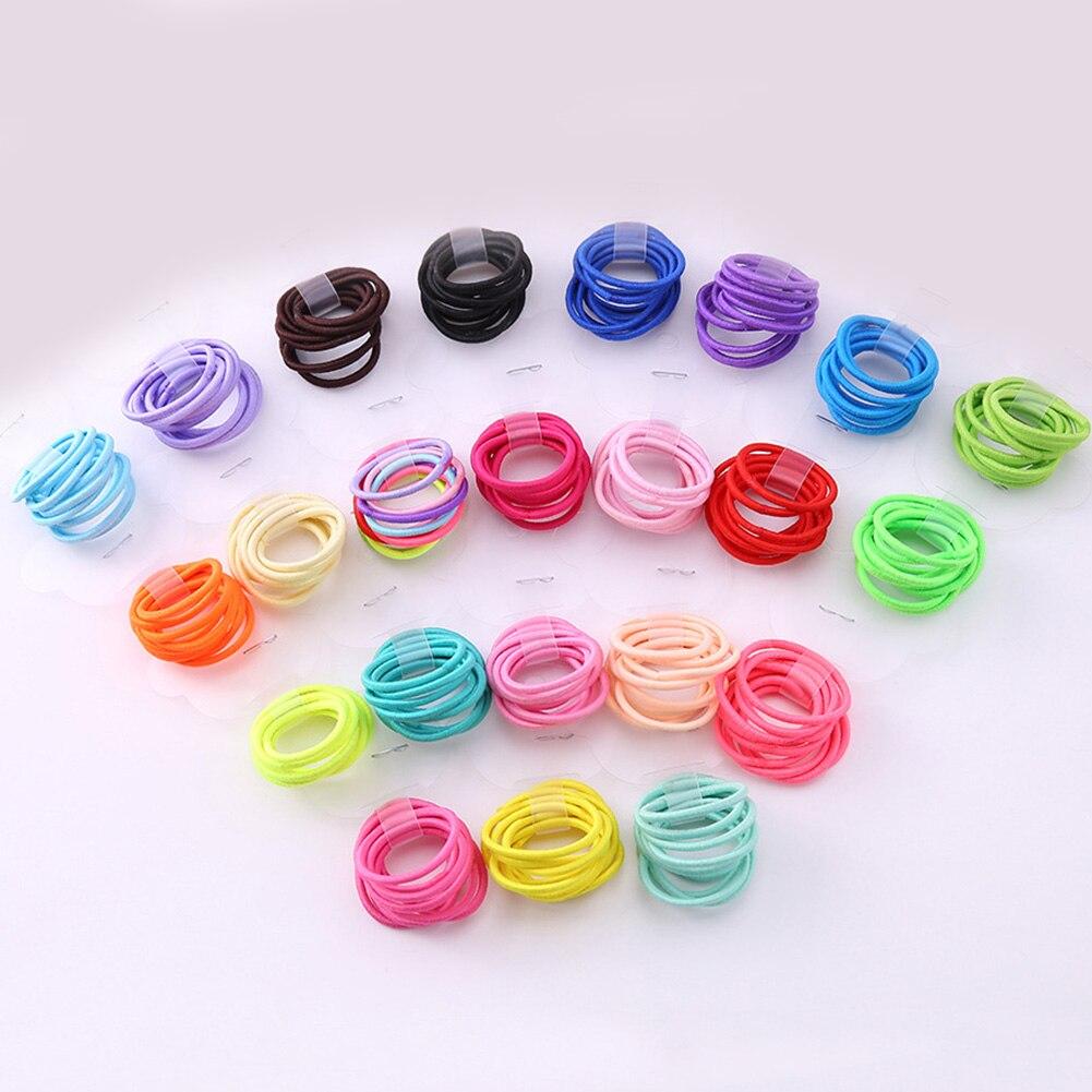 10 unids/lote de accesorios para el cabello para niñas bandas de goma elásticas gruesas bandas elásticas para el cabello niños diadema decoraciones lazos goma para el cabello