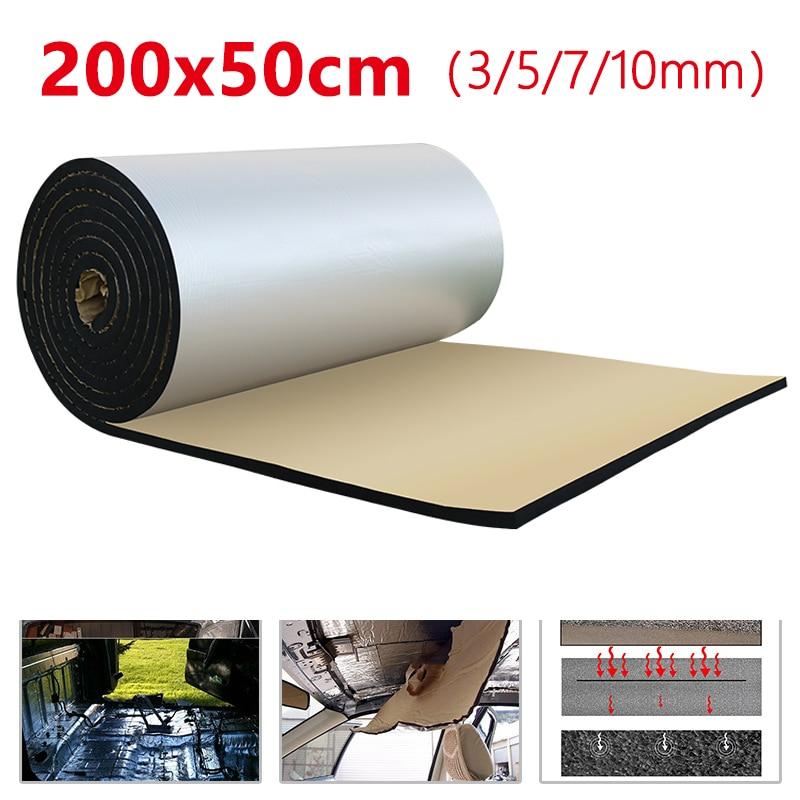 AliExpress - 500*2000mm 3/5/7/10mm Car Hood Engine Firewall Heat Mat Deadener Sound Noise Proof Insulation Deadening Aluminum Foil Sticker