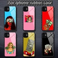 ciciber make money black head girl phone cases rubber for iphone 12 11 pro max xs 8 7 6 6s plus x 5s se 2020 xr 12 mini case