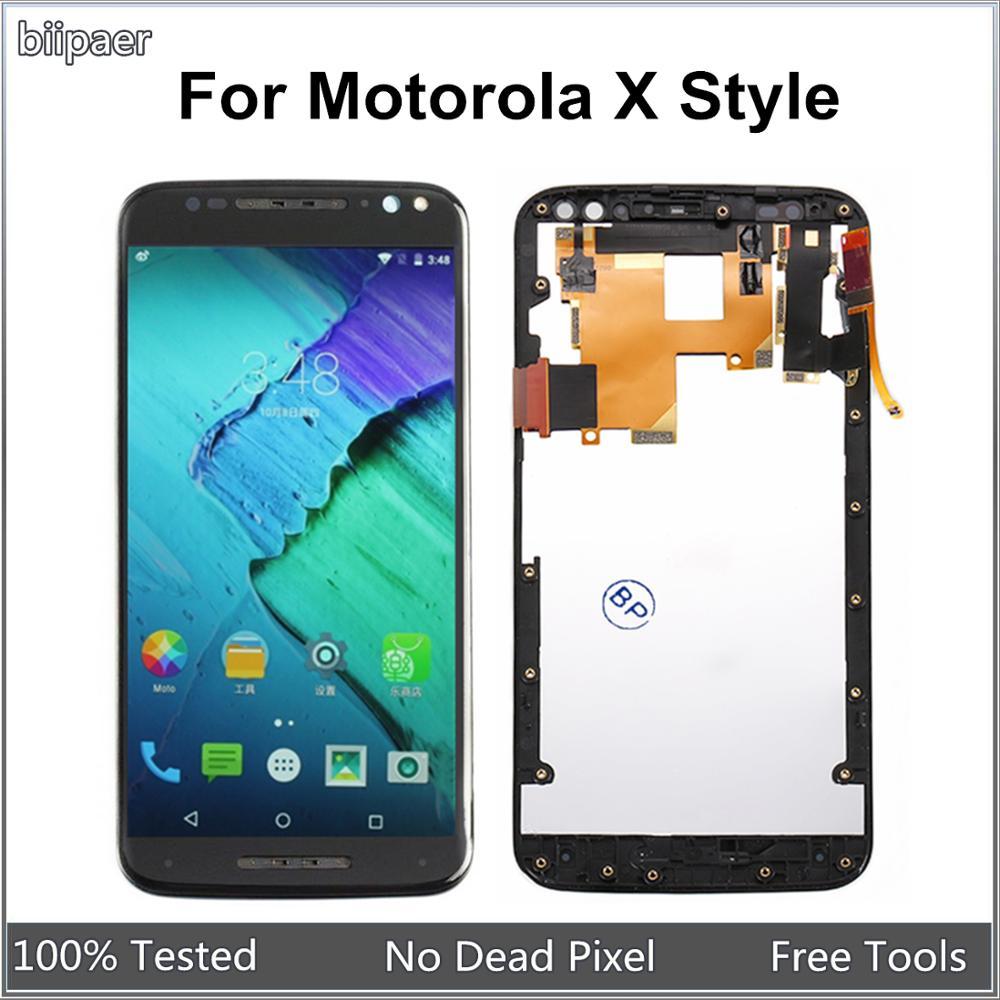 100% prueba de pantalla LCD de montaje de digitalizador con pantalla táctil para Motorola X estilo XT1572 XT1575 pantalla LCD para Moto X estilo XT1572