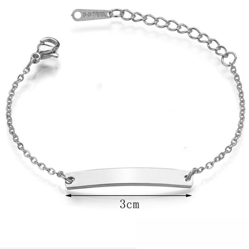 Personalizado nome do bebê pulseira inoxidável steeltoddler id criança pulseira personalizado jóias menina menino presente de aniversário