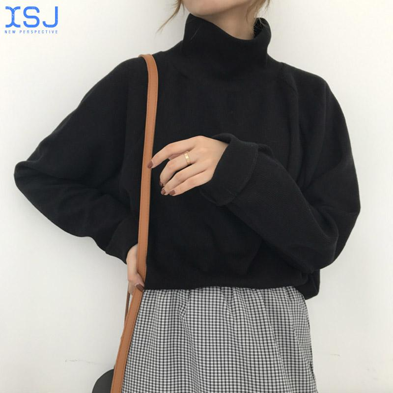 Turtleneck Sweater For Women spring Autumn Knitted Jumper Women's Sweater Casual Loose Long Sleeve Jacket Pullover Female enlarge