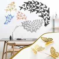 Autocollants muraux papillon ajoures 3D en carton  accessoires de decoration pour la maison