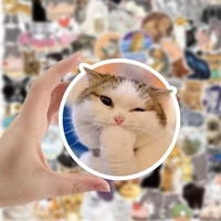 1050100pcs kawaii cat stickers decal for girl cute cartoons animal sticker to suitcase stationery fridge water bottle guitar