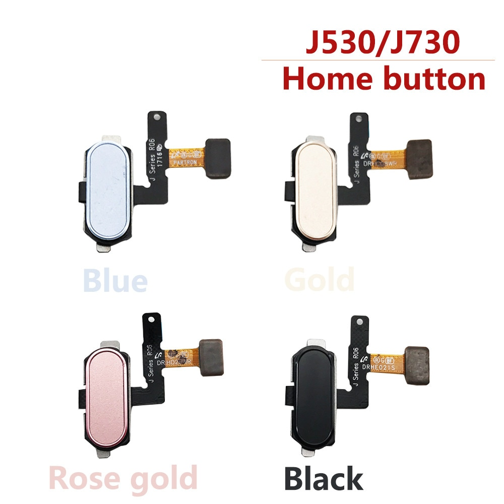 J5 (2017) J530 botón para Samsung J330 J7 (2017) J730 escáner de huellas dactilares, Sensor táctil, botón de inicio, Cable flexible de ensamblaje de retorno