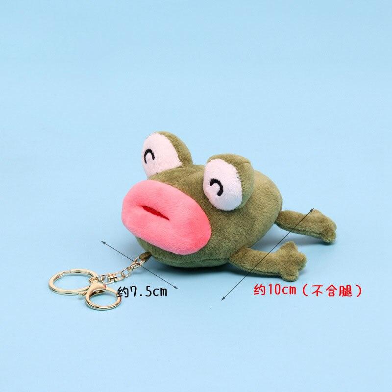 Creativo pequeño llavero colgante de dibujos animados perfumado muñeco de rana de peluche de juguete