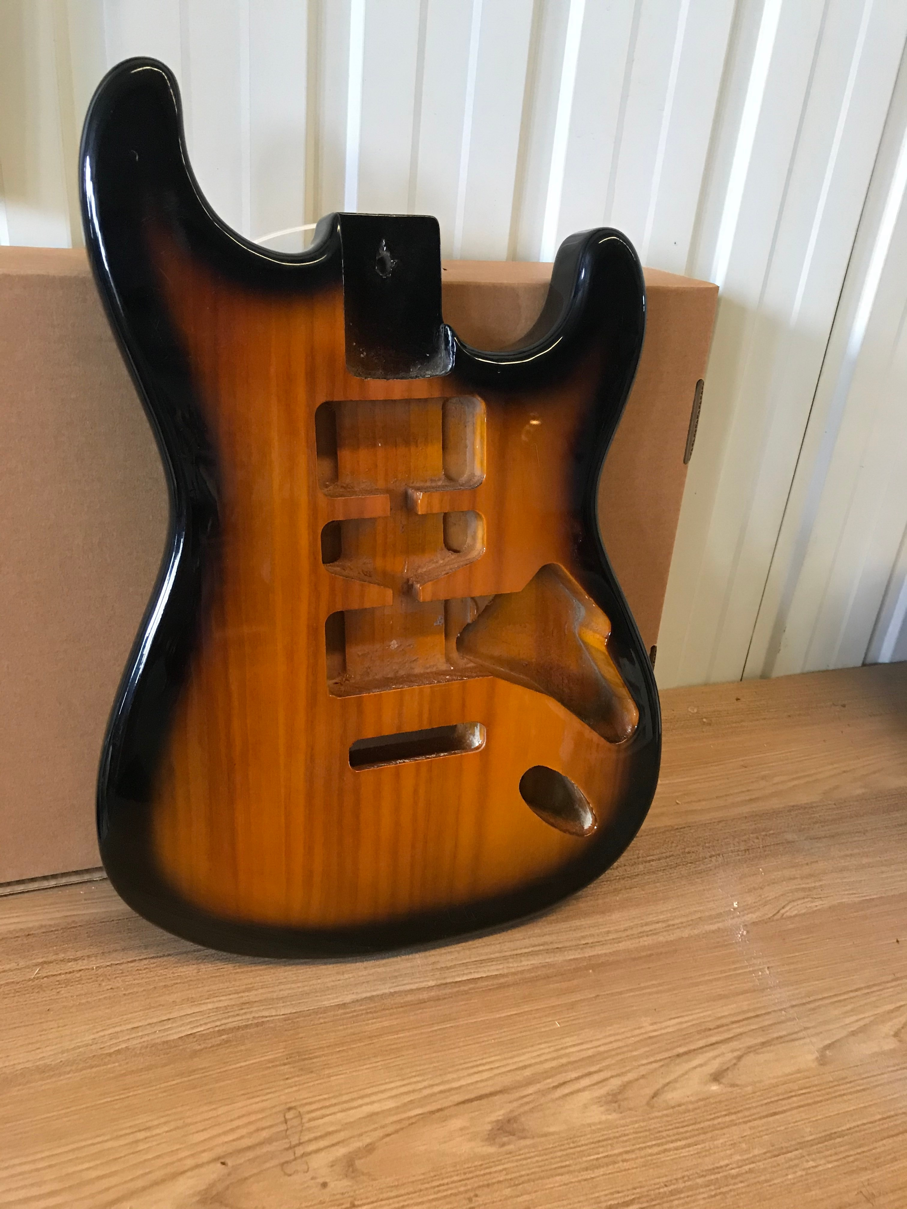 Free Shipping Custom 6 Strings Electric Guitar,Semi-finished Sunset Color Guitar,ASH Body, Can Custom Color, Free Delivery enlarge