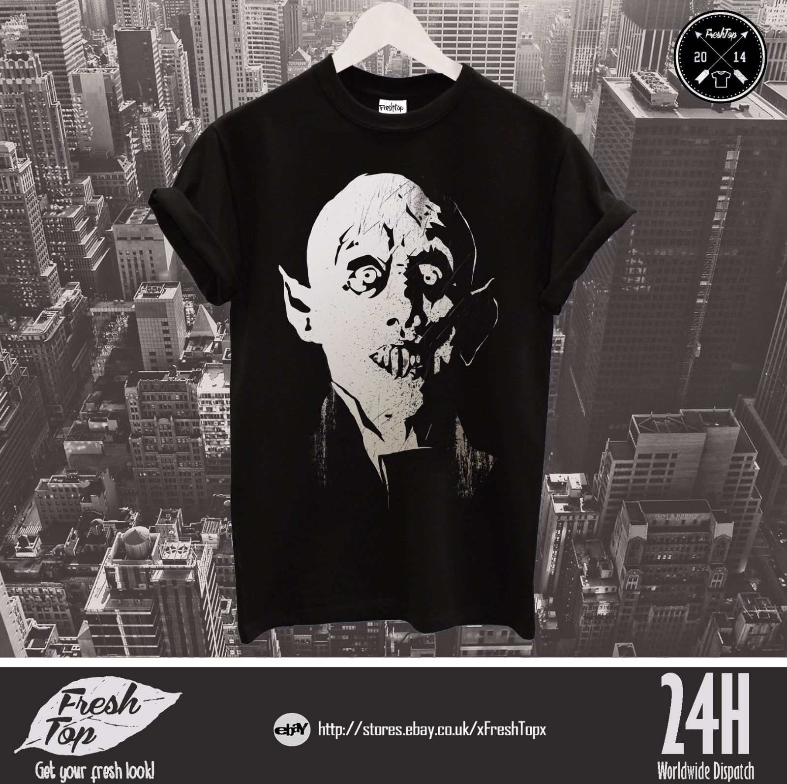 Camiseta Nosferatu A Symphony of Horror Top Drácula Halloween vampiro regalo Zombie Cool Casual pride camiseta hombres moda Unisex