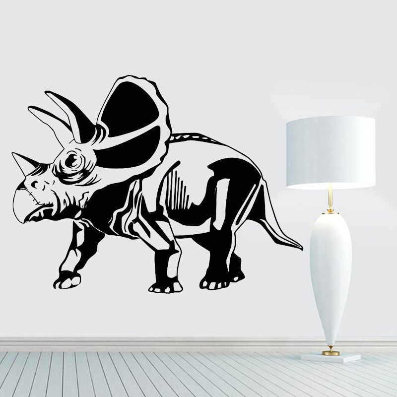 Dinosaurs Wall Sticker Cartoon Home Decor Removable Wall Mural Decal Kids Children Boys Room Nursery Decoration