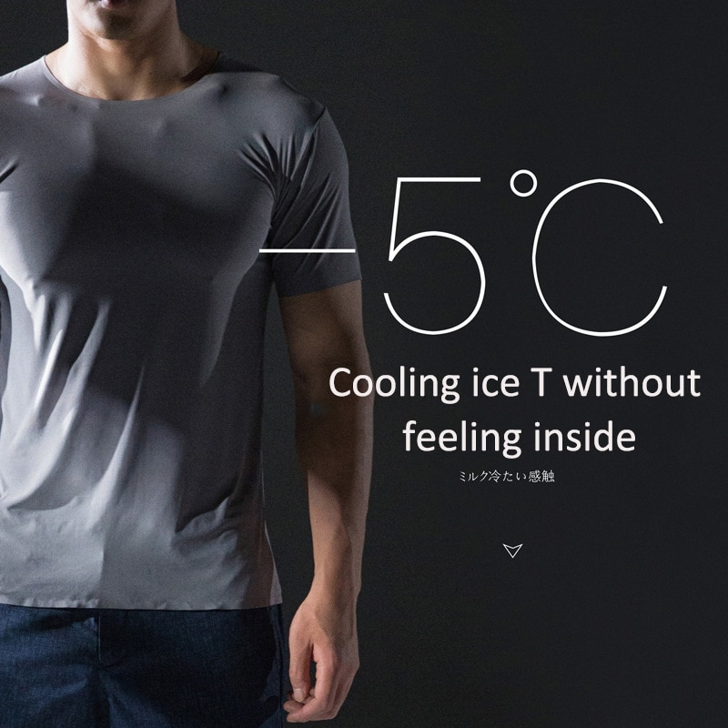aliexpress.com - 2020 Solid Color T shirt Summer Men's Thin Short Sleeve Ice Silk Without Trace Slim O-neck Bottoming Fashion Men Clothing