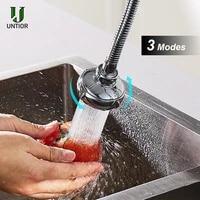UNTIOR haute pression cuisine robinet Extender rotatif robinet aerateur economie deau robinet buse adaptateur salle de bain evier accessoires