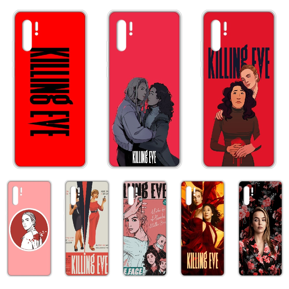 Popular serie de TV matar a Eve de la cubierta de la caja del teléfono para HUAWEI p 8 9 10 20 30 40 P pro Smart 2017 Z 2019 transparente impermeable