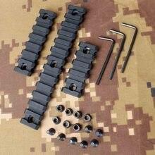 "5 7 13 Slot 2"" 3"" 5"" Picatinny Weaver Rail Keymod Handguard Section 3 Sizes"