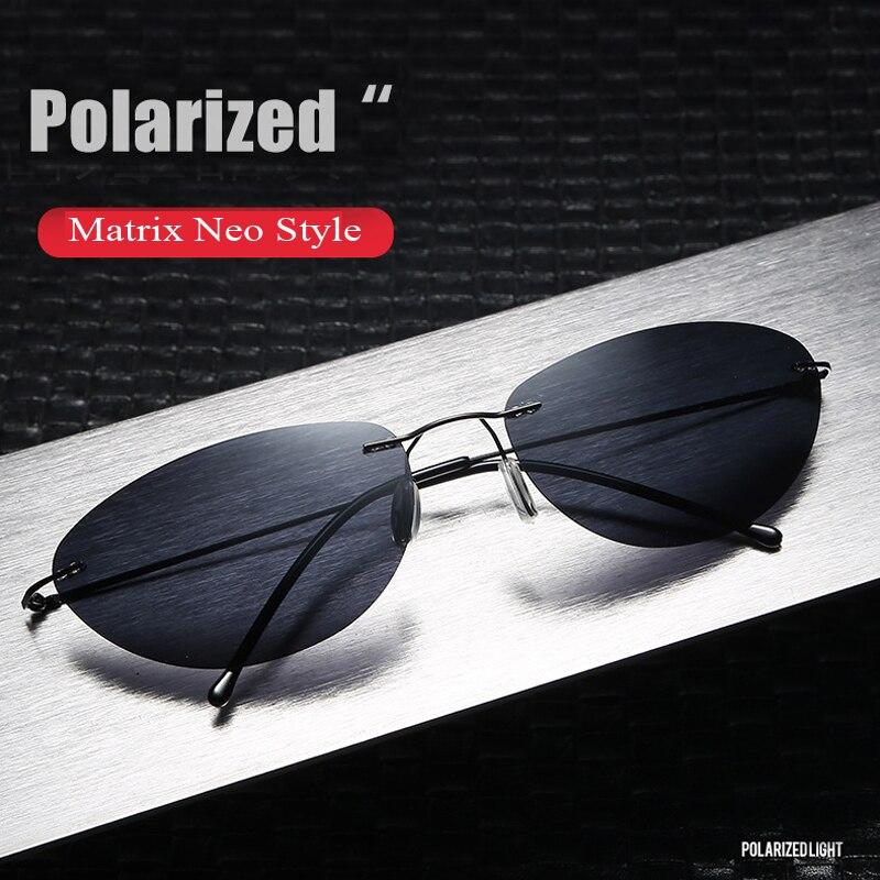 Gafas De Sol polarizadas estilo Matrix Neo, gafas De Sol polarizadas, diseño moderno sin montura para hombres