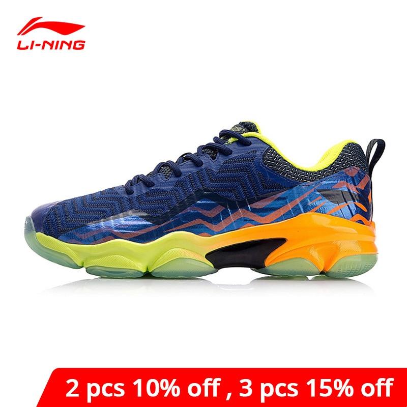 Li-ning hombres SONIC BOOM KNIT profesional Badminton zapatos LN BOUNSE + forro de cojín Li Ning Wearable calzado deportivo AYZN011 XYY073